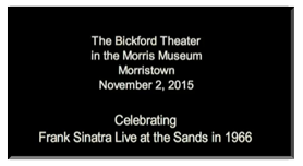 Full Count Frank Sinatra Celebration Announcement